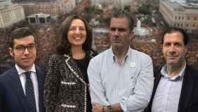 De izquierda a derecha: Juan Cremades, Marta Castro, Javier Ortega Smith y Pedro Fernández.