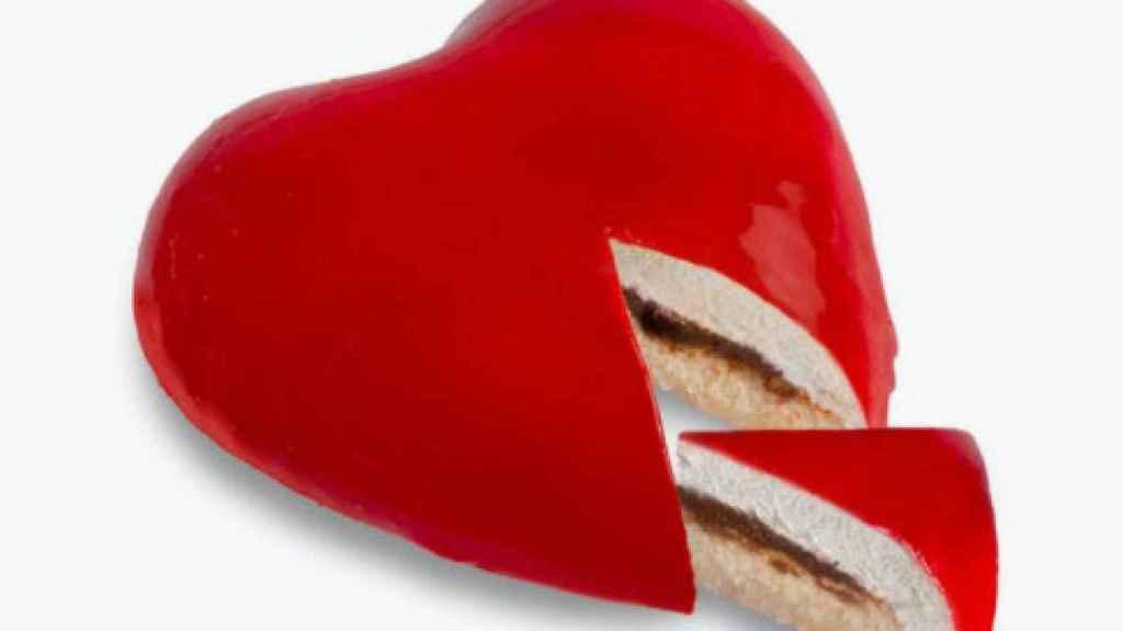 Tarta corazón rellena