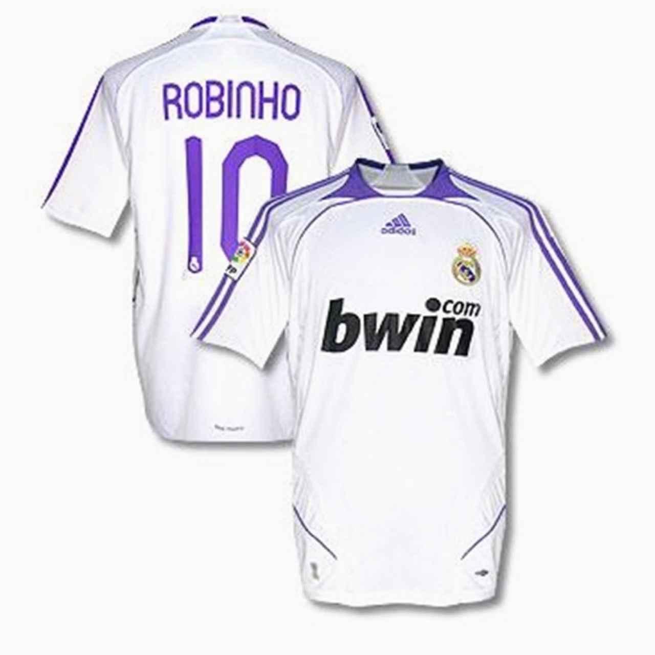 La camiseta del Real Madrid de la temporada 2007/2008