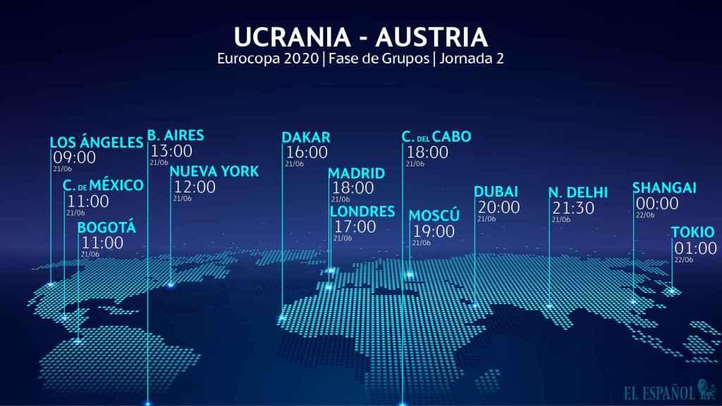 El horario del Ucrania - Austria de la Eurocopa