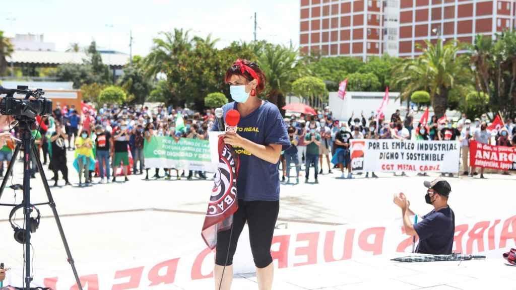 La excoordinadora de Adelante Andalucía y líder de Anticapitalistas, Teresa Rodríguez.