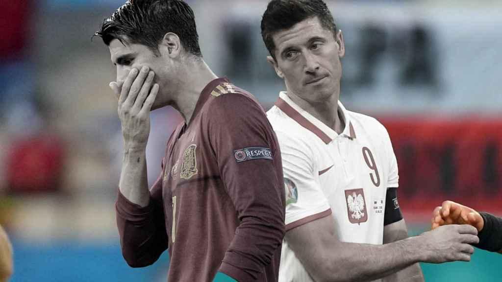 Morata y Lewandowski