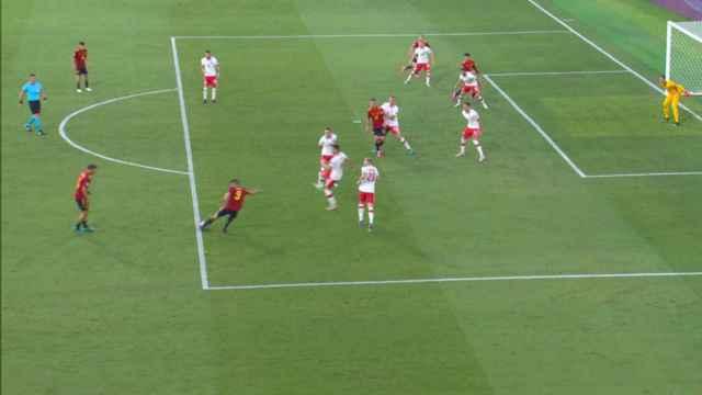 Posición legal en el gol de Álvaro Morata