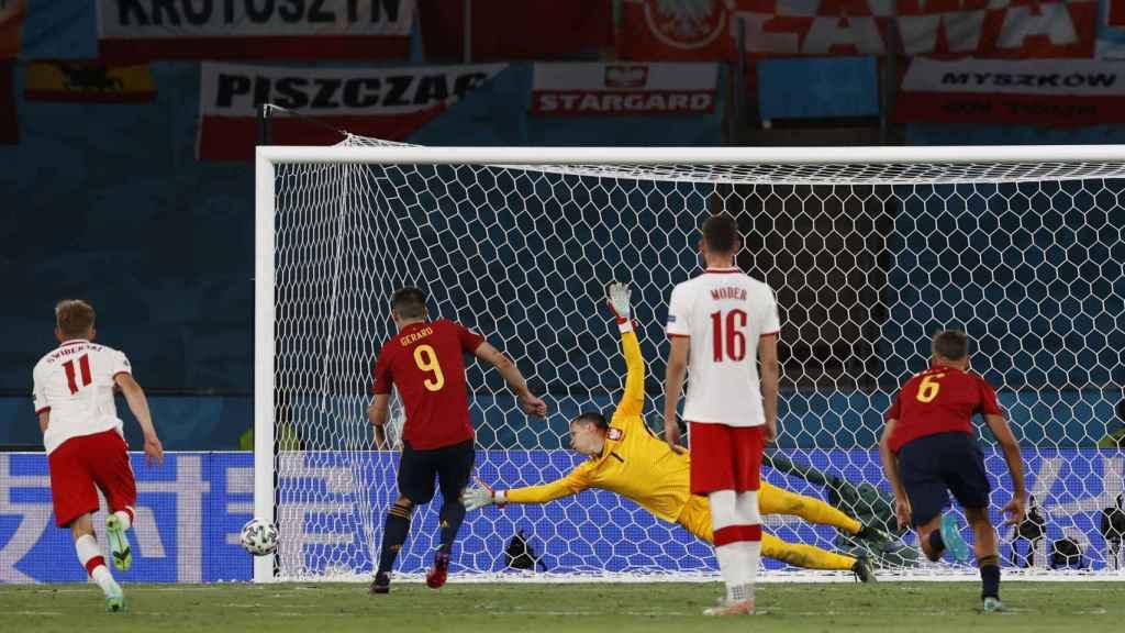 Gerard Moreno falla el penalti contra Polonia