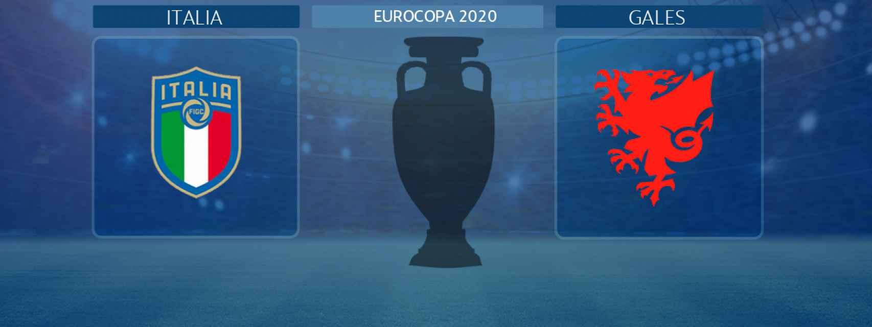 Italia - Gales, partido de la Eurocopa 2020