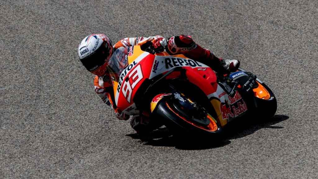 Marc Márquez traza una curva en el GP de Alemania
