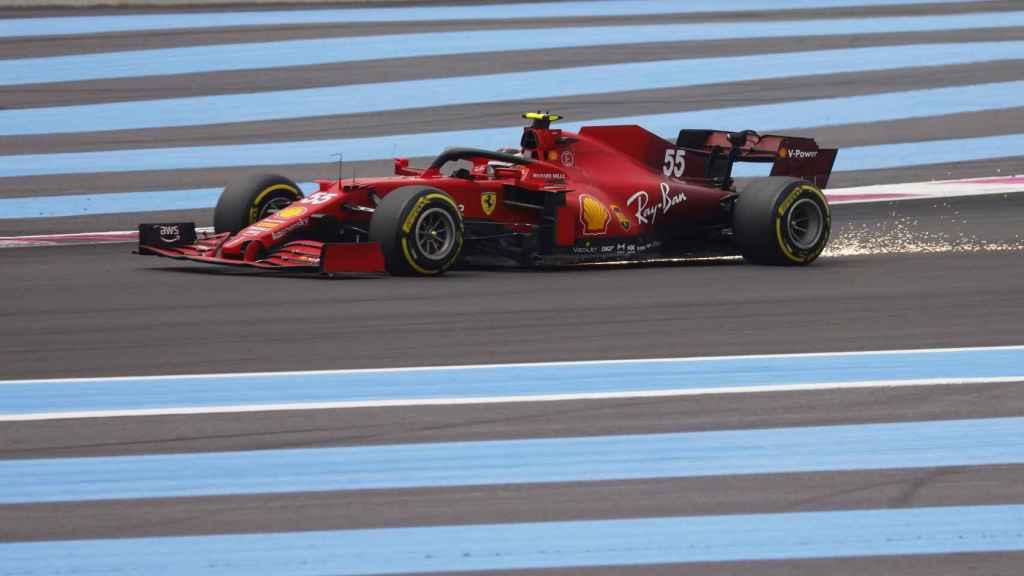 Carlos Sainz en el circuito de Paul Ricard