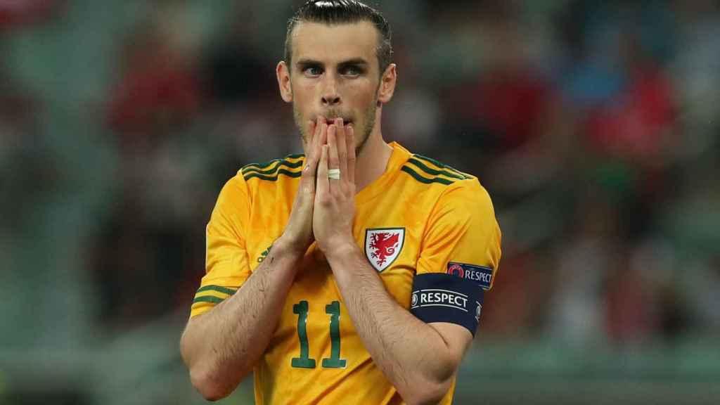 Gareth Bale durante un partido de la Eurocopa con Gales