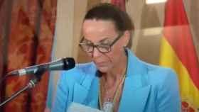 La nueva alcaldesa de Ciudad Real, Eva María Masías, perdió el hilo del discurso durante más de un minuto durante la toma de posesión