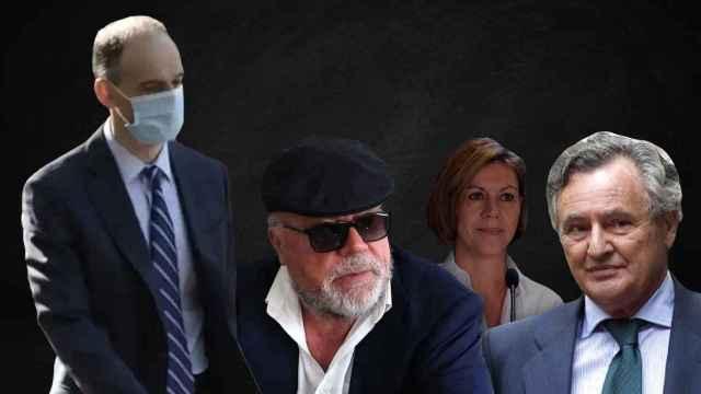 Morocho, Villarejo, Cospedal e Ignacio López del Hierro, algunos de los protagonistas de la trama.
