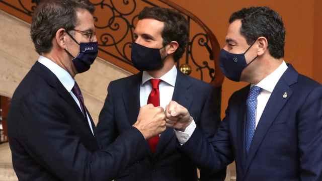 Feijóo, Casado y Moreno.