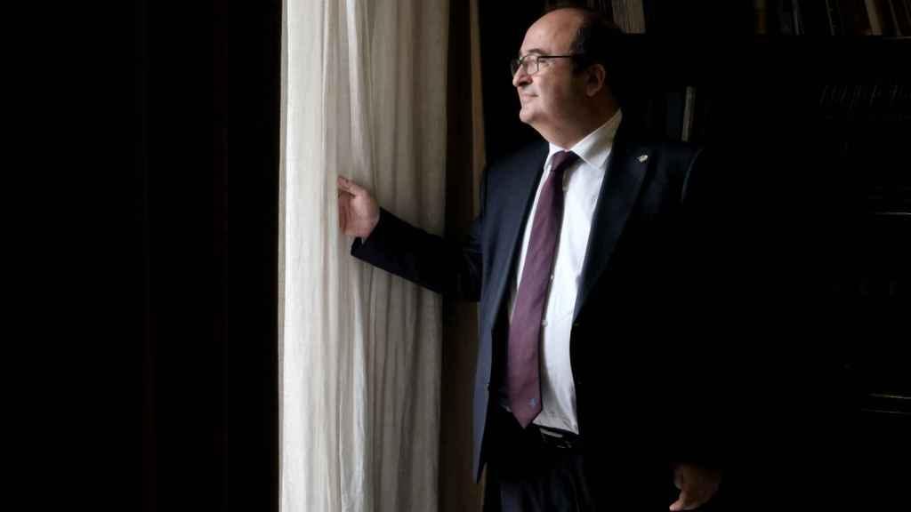 Miquel Iceta, tras su entrevista con EL ESPAÑOL.