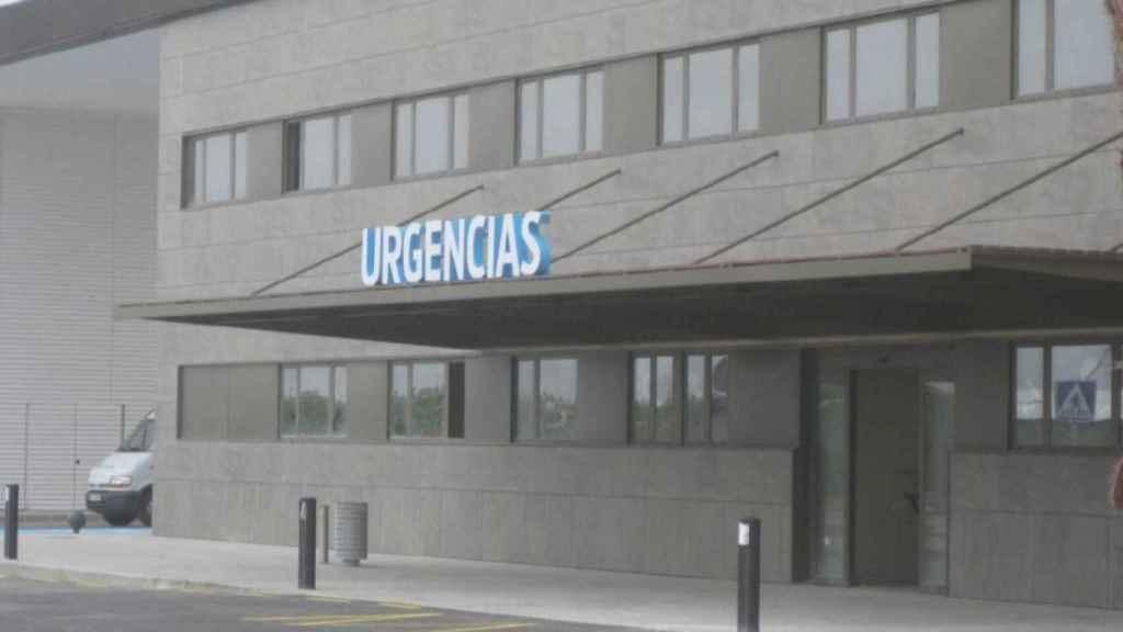 Puerta de acceso al Servicio de Urgencias del Hospital Los Arcos de San Javier.