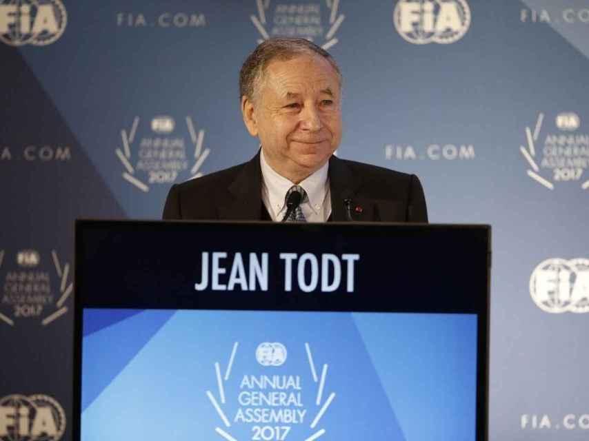 Jean Todt, presidente de la FIA