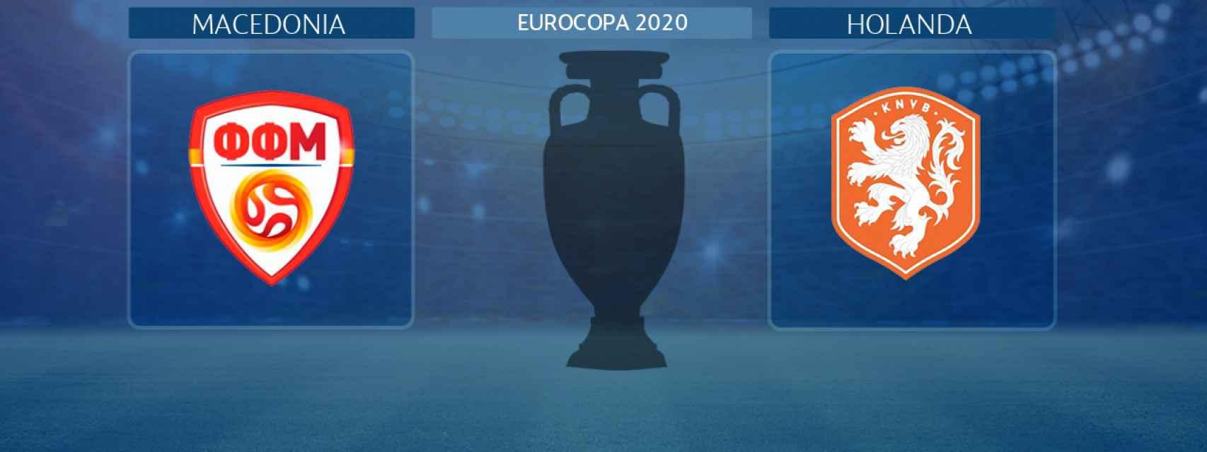 Macedonia - Holanda, partido de la Eurocopa 2020