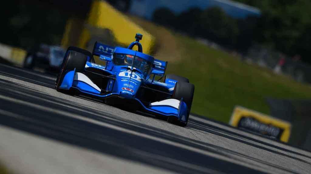 Álex Palou en el circuito de Road America de la IndyCar Series