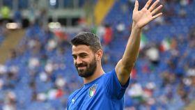 Leonardo Spinazzola, en un partido de la selección de Italia en la Eurocopa 2020