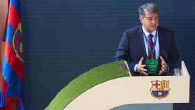 Joan Laporta, durante la Asamblea de Compromisarios del FC Barcelona de 2021