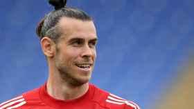 Gareth Bale, con la selección de Gales en la Eurocopa 2020