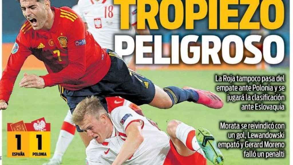 La portada del diario SPORT (20/06/2021)