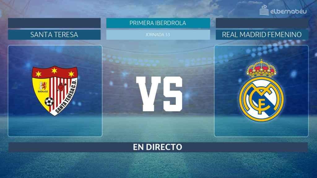 Streaming en directo   Santa Teresa  - Real Madrid Femenino