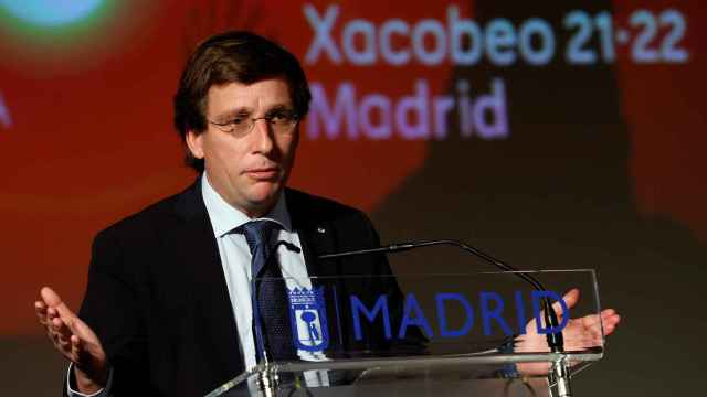 El alcalde de Madrid, José Luis Martínez-Almeida, este domingo.