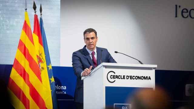 El presidente del Gobierno, Pedro Sánchez, interviene en la clausura de la tercera sesión de la XXXVI Reunión del Cercle d'Economia.