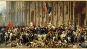 Lamartine, en la pintura de Philippoteaux.