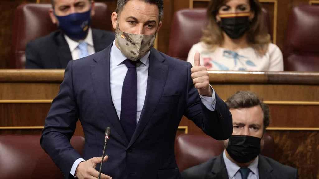 Santiago Abascal, presidente de Vox, en el Congreso de los Diputados.
