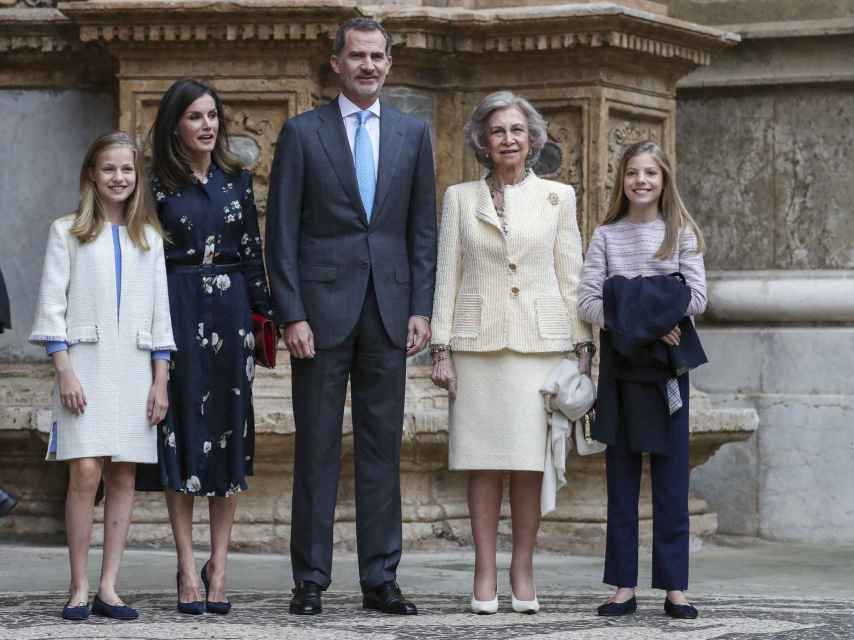 La Familia Real en Mallorca en 2019.