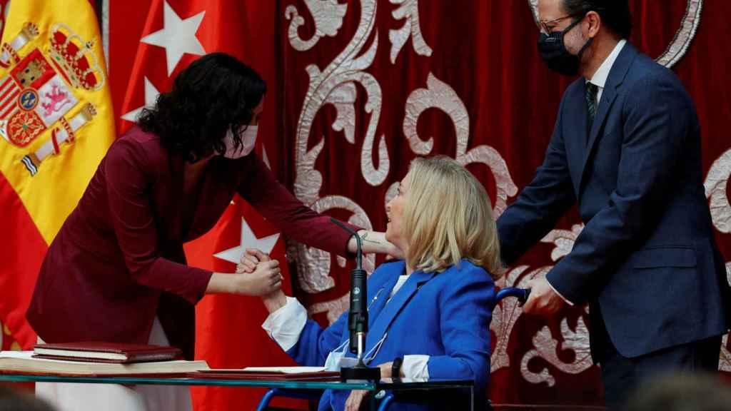 La consejera de Familia, Juventud y Política Social, Concepción Dancausa, en su toma de posesión.