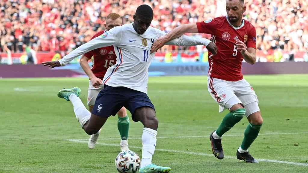 Ousmane Dembélé en el Hungría - Francia