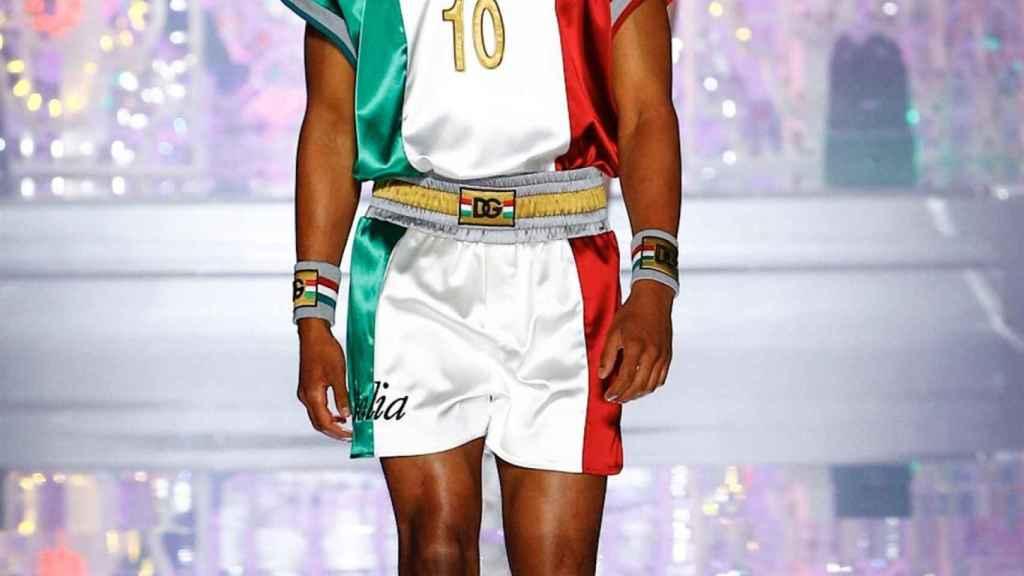 Dolce & Gabanna tuvo un guiño en su desfile con la selección de fútbol italiana.