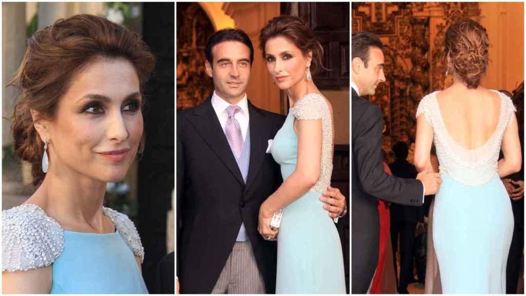 Paloma Cuevas vistió de Rosa Clará para la boda de su hermana, Verónica.