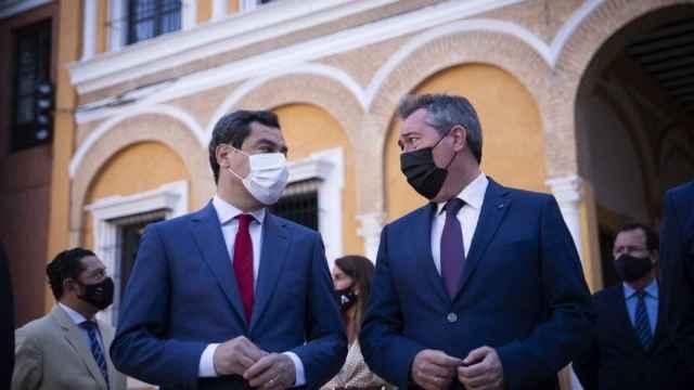 Juanma Moreno y Juan Espadas en una imagen reciente.