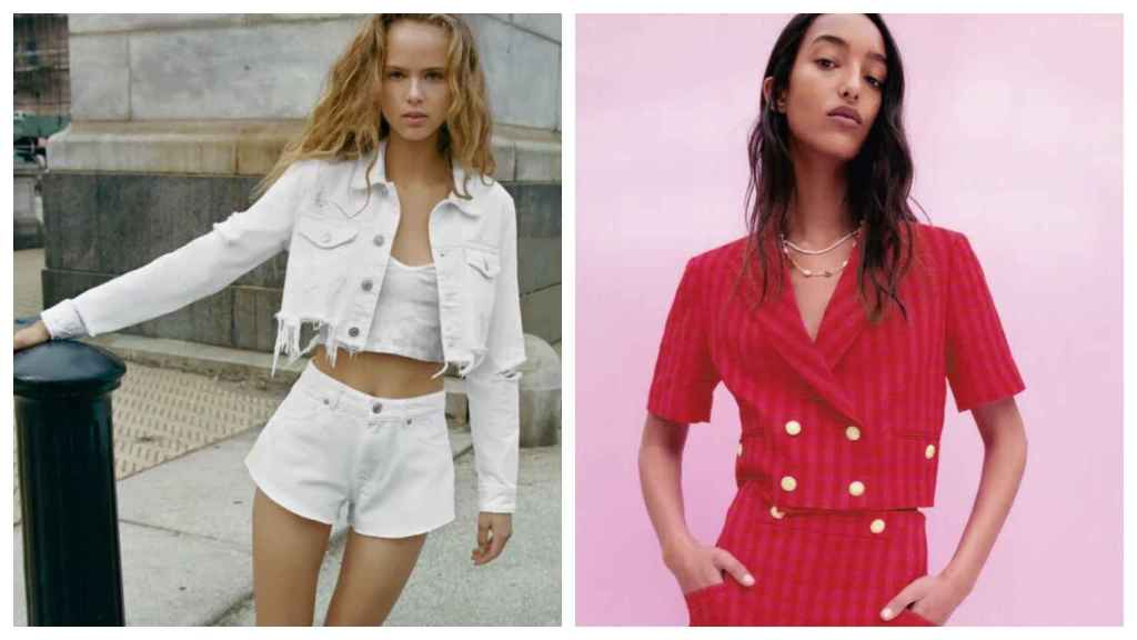 Two proposals for a 'cropped' jacket from Zara.