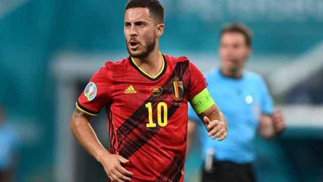 Eden Hazard, en un partido con Bélgica