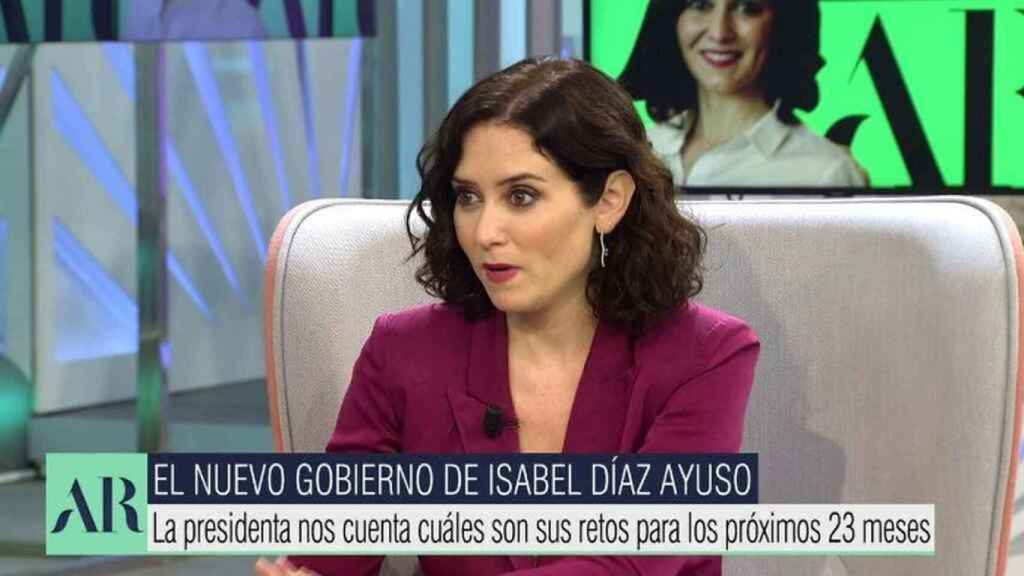 Díaz Ayuso ha descartado el cierre de Telemadrid que exigía Vox.