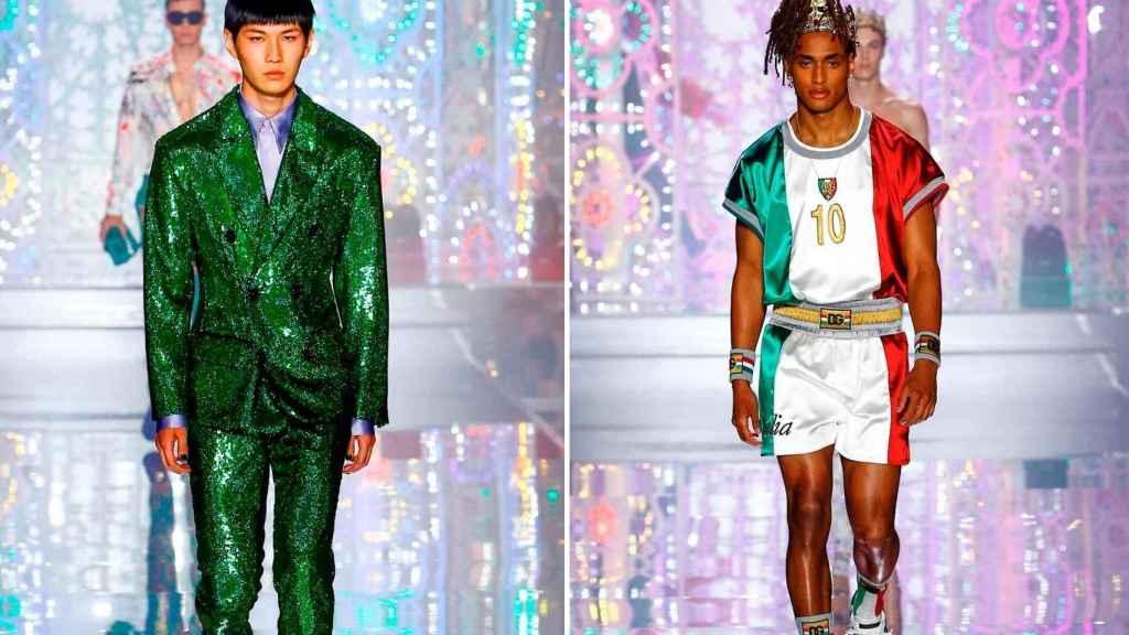 Dolce & Gabbana deslumbra en Milán con un desfile lleno de color.