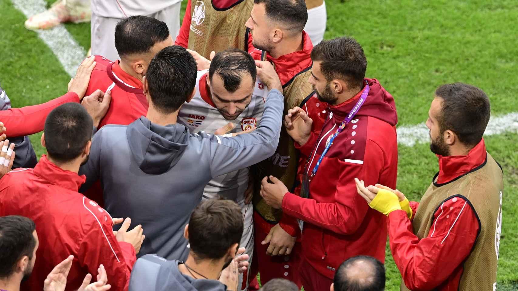 La despedida de Macedonia a Goran Pandev, el futbolista que se retira en esta Eurocopa