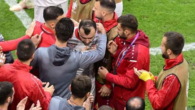 El adiós a una leyenda de Macedonia en la Eurocopa: Goran Pandev juega su último partido y así fue el homenaje