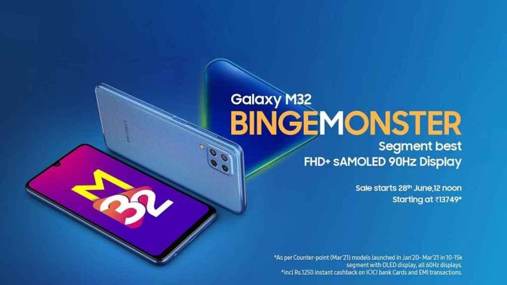 Nuevo Samsung Galaxy M32: un gama media con enorme batería