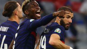 Pogba y Benzema, en un partido de la selección de Francia de la Eurocopa 2020