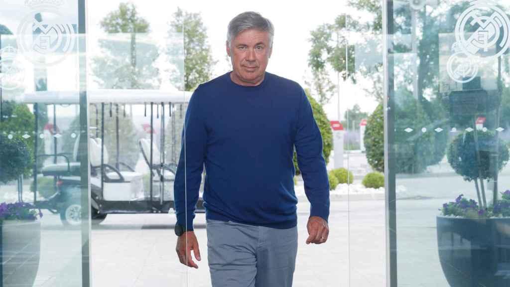 Carlo Ancelotti, en la Ciudad Real Madrid