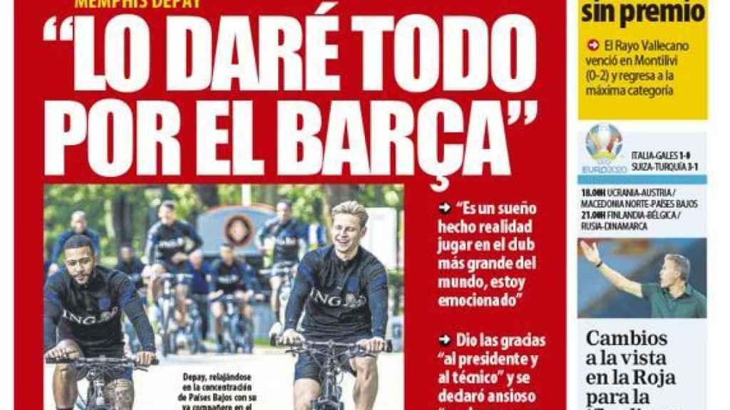 La portada del diario Mundo Deportivo (21/06/2021)