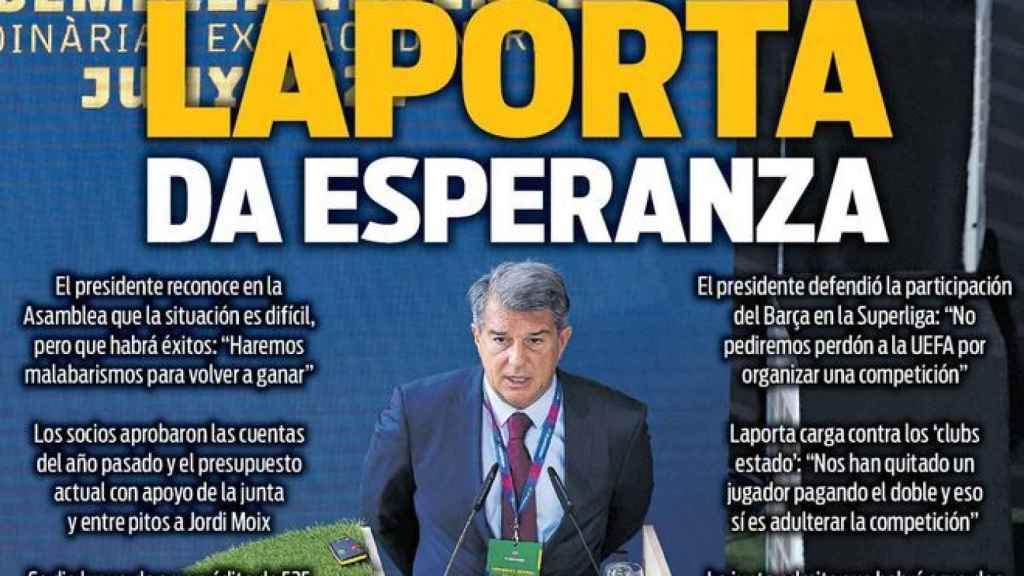 La portada del diario SPORT (21/06/2021)