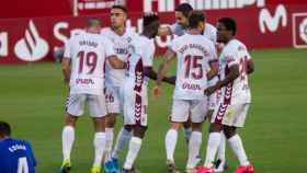 Una imagen del Albacete Balompié celebrando un gol (albacetebalompie.es)