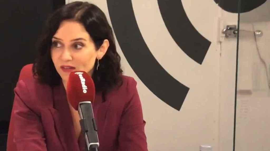 La presidenta de la Comunidad de Madrid, Isabel Díaz Ayuso, en esRadio.