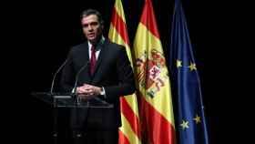 Pedro Sánchez, durante su anuncio de los indultos a los líderes del procés.