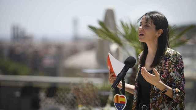 La líder de Cs, Inés Arrimadas, interviene tras la reunión del Comité Ejecutivo en Barcelona.